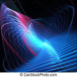 astratto, spirale, illustrazione, tecnologia, fondo, fractal