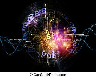 astratto, tecnologia, digitale
