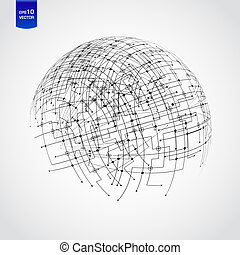 astratto, tecnologia, globo