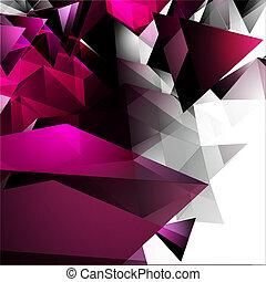 astratto, triangolare, fondo