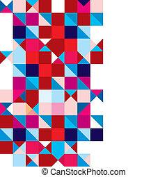 astratto, triangolo, tricolore