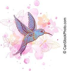 astratto, uccello, fondo