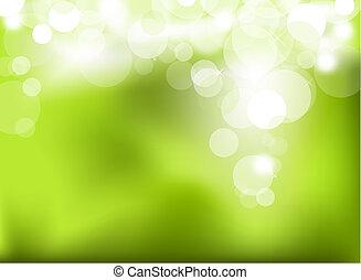 astratto, verde, ardendo, fondo