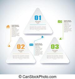 astratto, vettore, appiccicoso, 3d, infographics