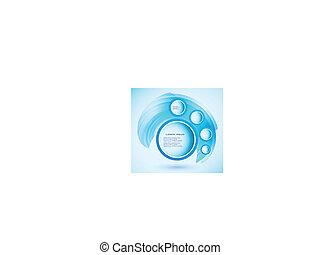astratto, vettore, curva, cerchio, blue.