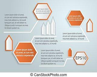 astratto, vettore, etichetta, 3d, infographics