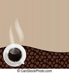 astratto, vettore, fondo, caffè, illustrazione