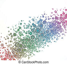 astratto, vettore, fondo, colorito, circle.