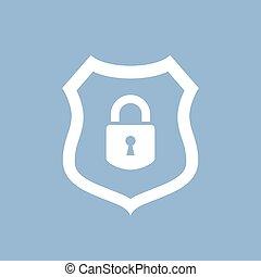 astratto, vettore, protezione dati, icona