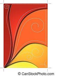 astratto, vettore, sfondo rosso, design.
