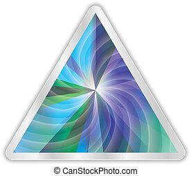 astratto, vettore, triangolo