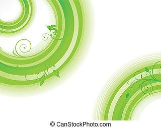 astratto, vettore, verde, illinois, fondo