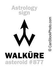 astrology:, asteroide, walküre