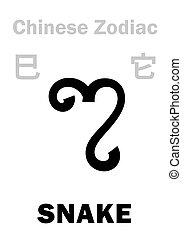 astrology:, cinese, zodiac), (sign, serpente