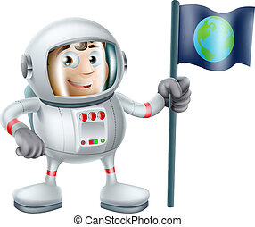 astronauta, cartone animato