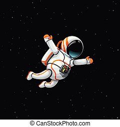 astronauta, profondo, spazio
