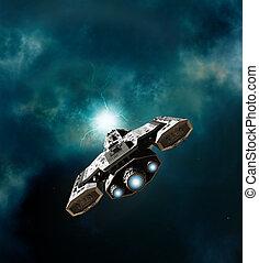 astronave, entrare, wormhole