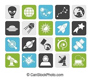 astronomia, icone, spazio