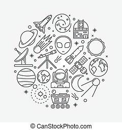 astronomia, illustrazione