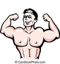 atleta, muscoli