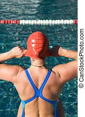 atletico, nuotatore