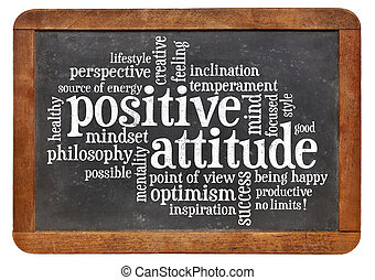 atteggiamento positivo, concetto, lavagna