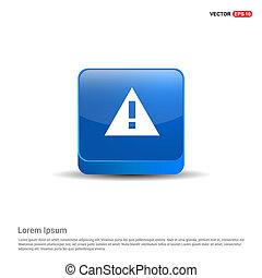 attenzione, segno, blu, punto esclamativo, -, icona, 3d, bottone