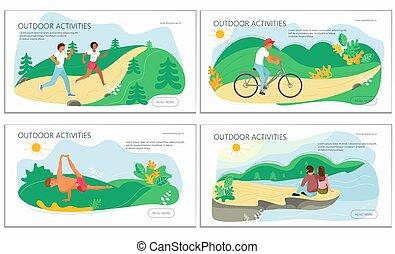 attività, natura, set