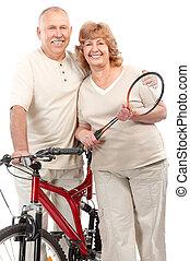 attivo, coppia anziana