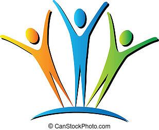 attivo, logotipo, persone