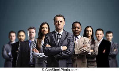 attraente, giovane, persone affari