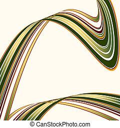 attraversato, deforme, colorito, linee