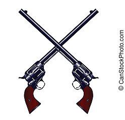 attraversato, pistole