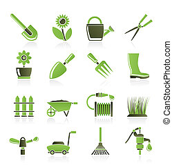attrezzi, giardinaggio, giardino