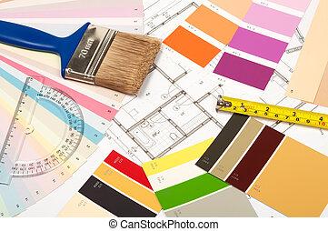 attrezzi, rinnovamento, accessori, casa