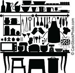 attrezzo, cottura, pasta, cucina