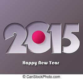 augurio, creativo, disegno, anno, 2015, nuovo, scheda, felice