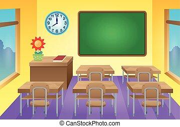 aula, 1, tema, immagine