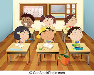 aula, bambini