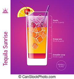 aurora tequila, cocktail