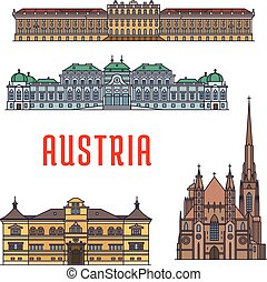 austria., costruzioni, storico, architettura