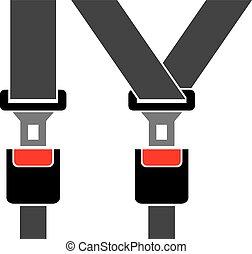 auto, posto, cintura di sicurezza