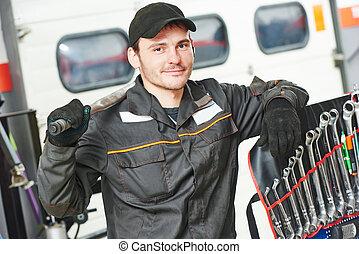 auto, riparatore, meccanico