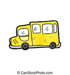 autobus, scuola, cartone animato