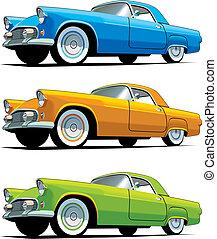 automobile, americano, antiquato