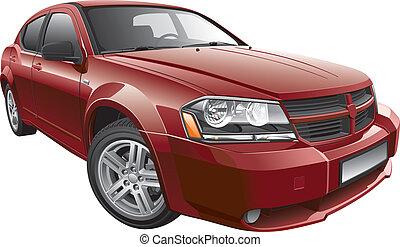 automobile, americano, mid-size