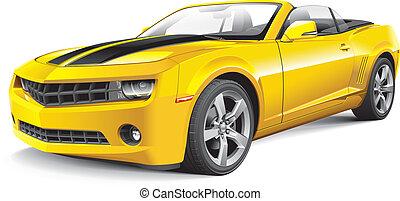 automobile, americano, muscolo, convertibile