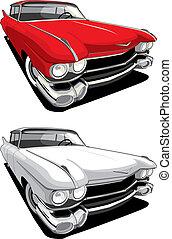 automobile, americano, retro