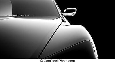 automobile, astratto, modello