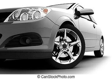 automobile, bianco, argento, fondo